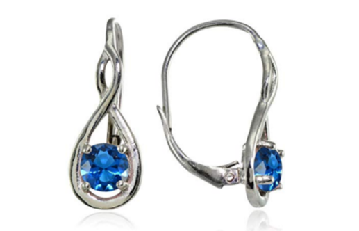 London Blue Topaz Infinity Founder's Day Earrings