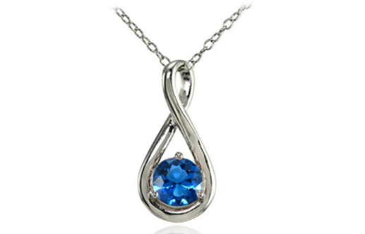 London Blue Topaz Infinity Founder's Day Necklace