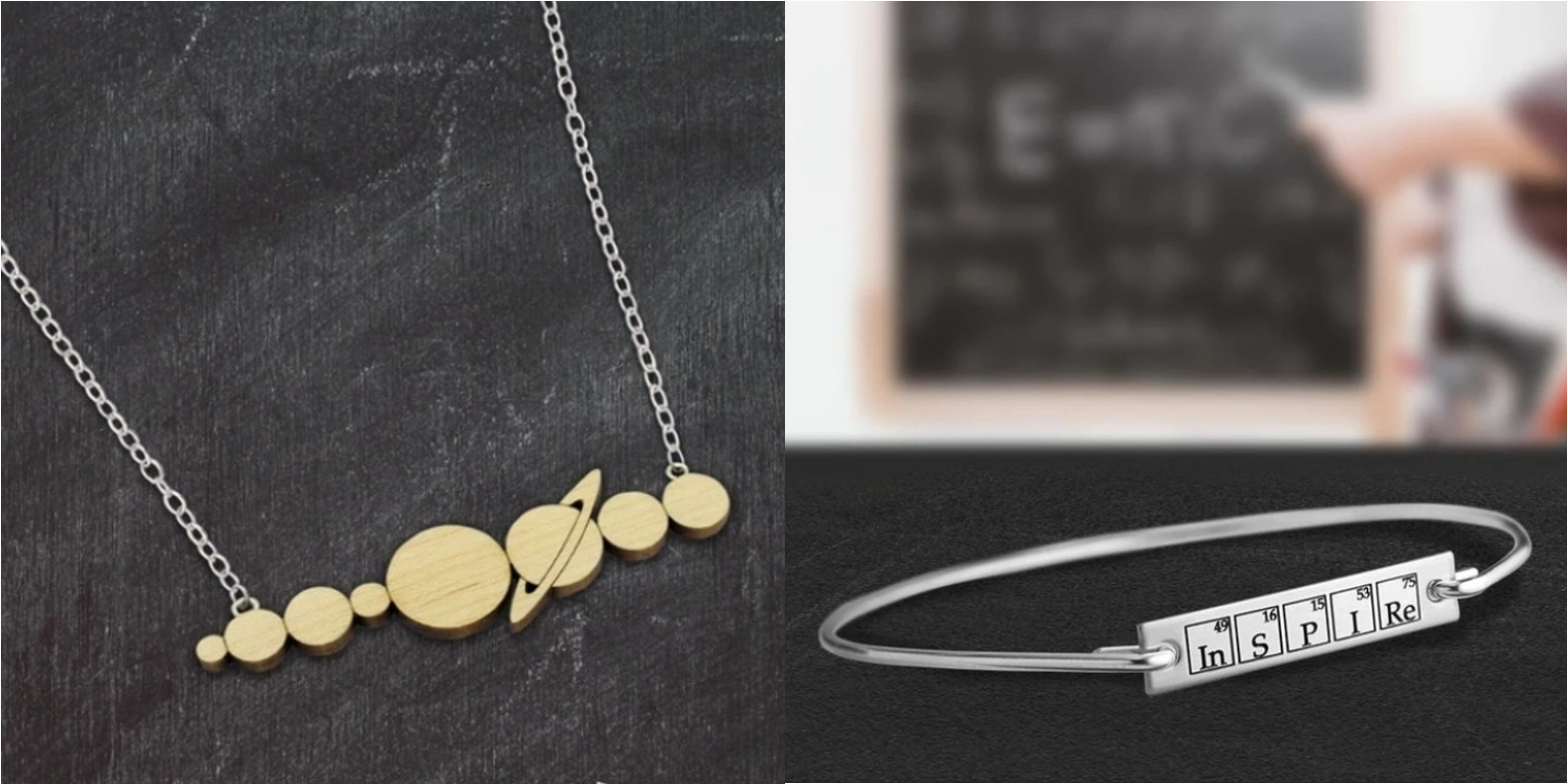 Solar System Wood Necklace and Inspire Bracelet Combo