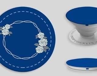 Blue PopSocket with Rose Weath
